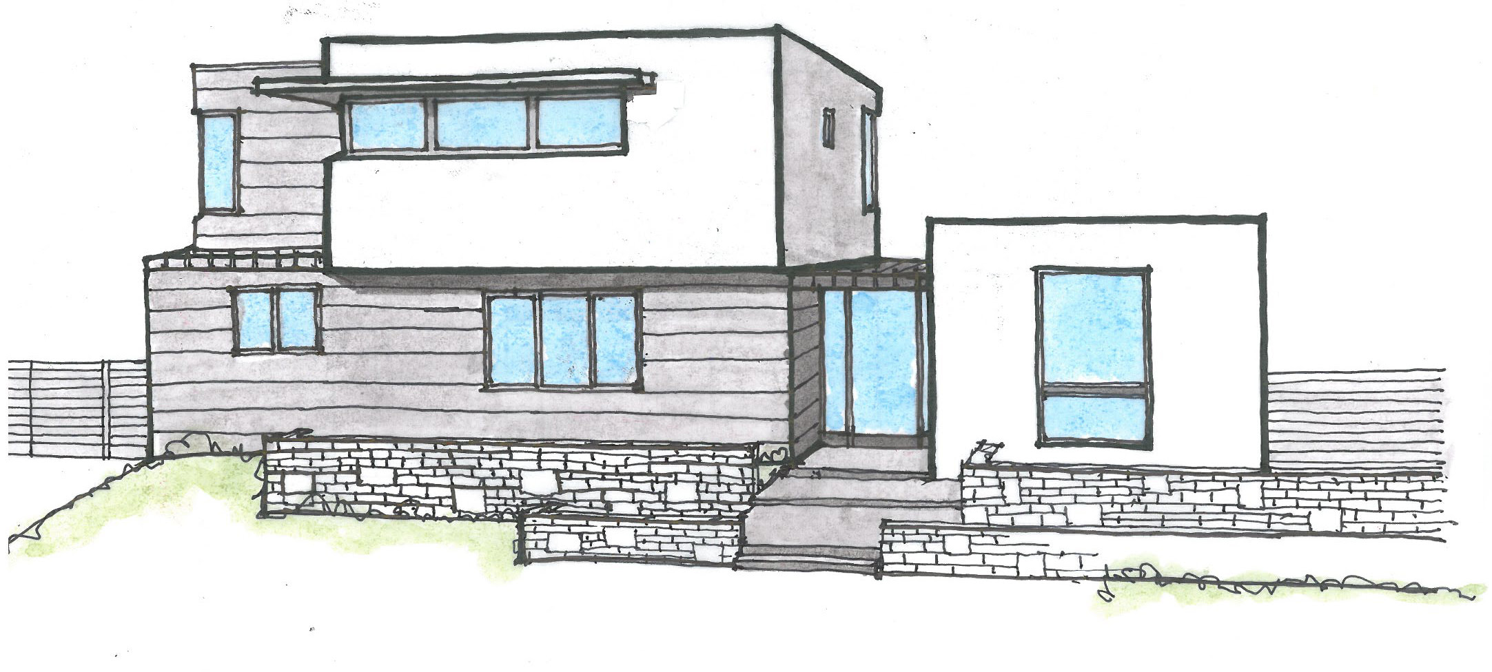 Architecture Design Simple House Drawing