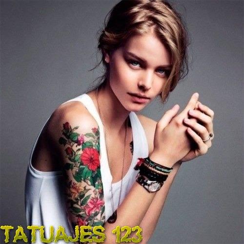 Manga Con Flores Tatuajes 123