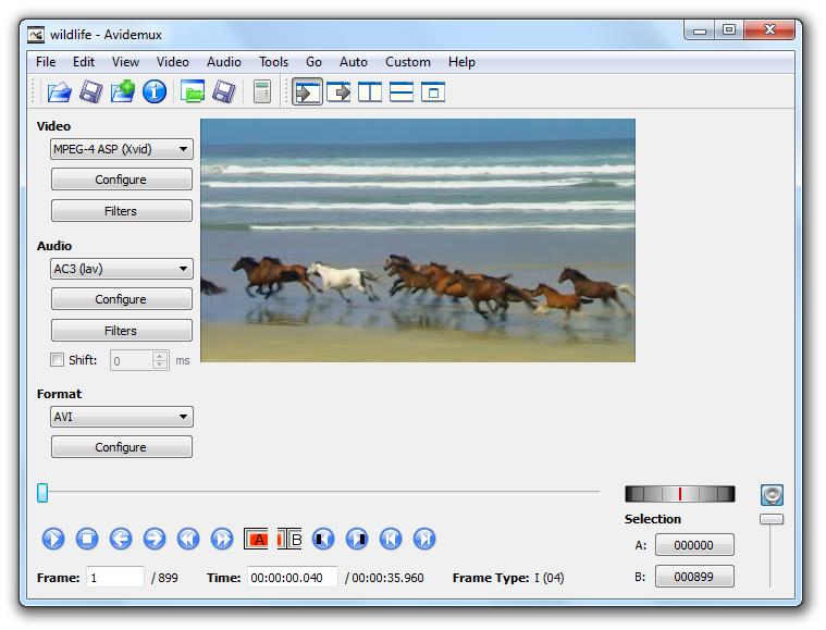 برنامج مجانى لاصلاح وتحويل وتعديل معظم ملفات الفيديو لجعلها تعمل على أي جهاز Avidemux 2.6.4 لويندوز ولينكس وماك