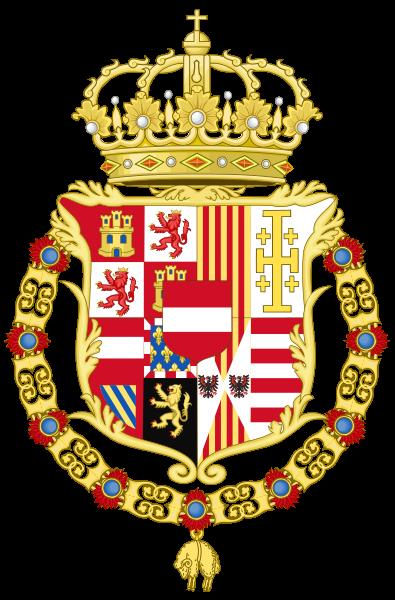 Archivo: Escudo de armas de Carlos VI de Austria como monarca de Nápoles y Sicily.svg
