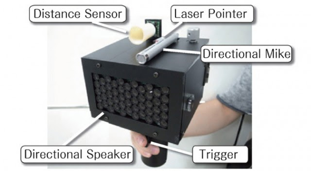 Speec-jamming Delayed Auditory Feedback gun