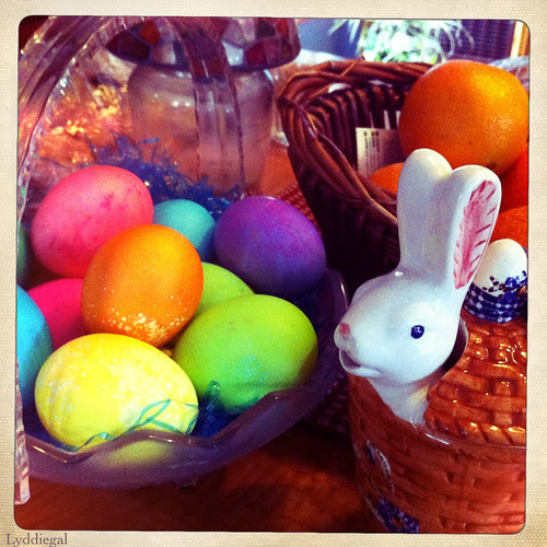 Bunny and eggs