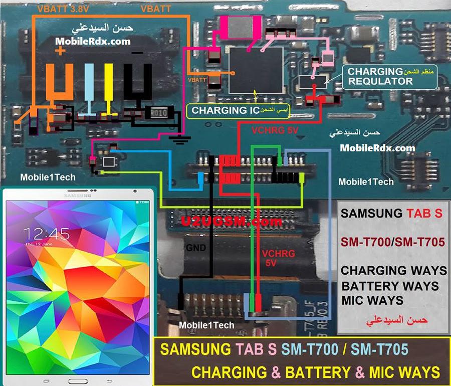 Samsung Galaxy Tab S 8.4 T700  Mic Solution Jumper Problem Ways Microphone
