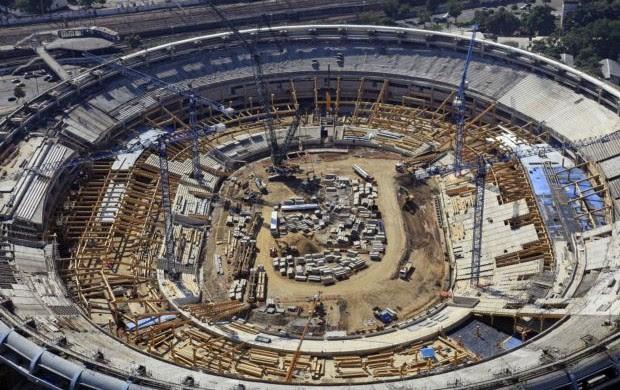 Maracanã com 59% de obras prontas (Foto: Divulgação)