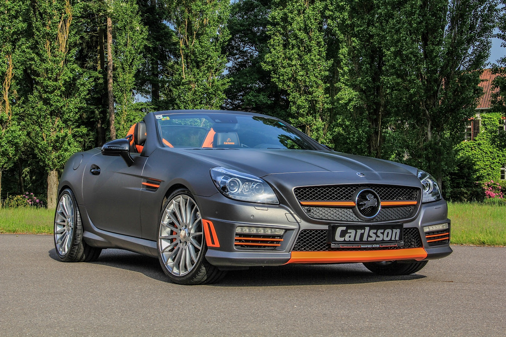 Mercedes SLK 55 AMG Gets Carlsson Interior with Orange and ...