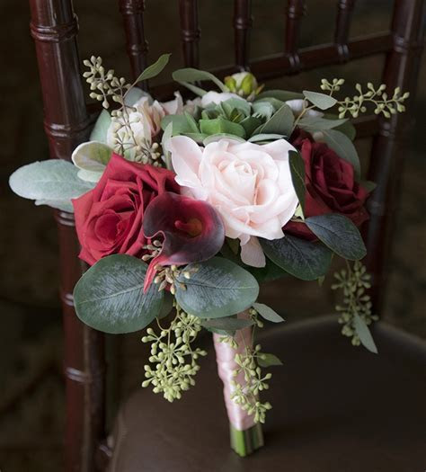 Natural Touch Christmas Red Rose and Pine Cones Bouquet