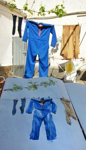 El mono azul