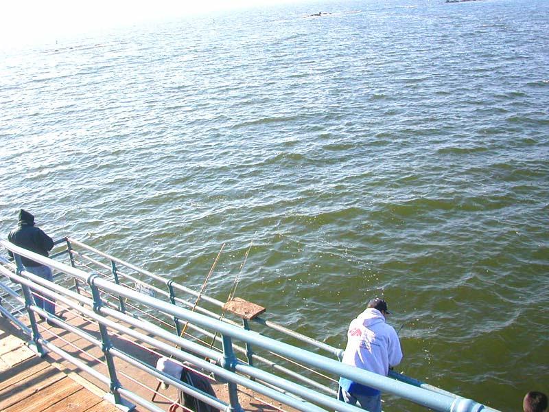 fishin' off the samo pier