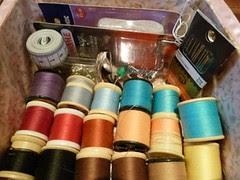 sewing box inside