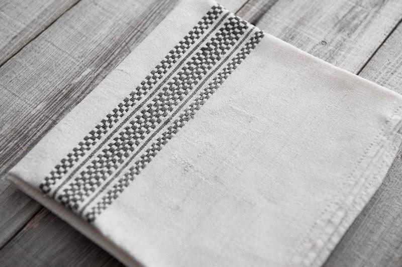 Antique French Linen Kitchen Towel