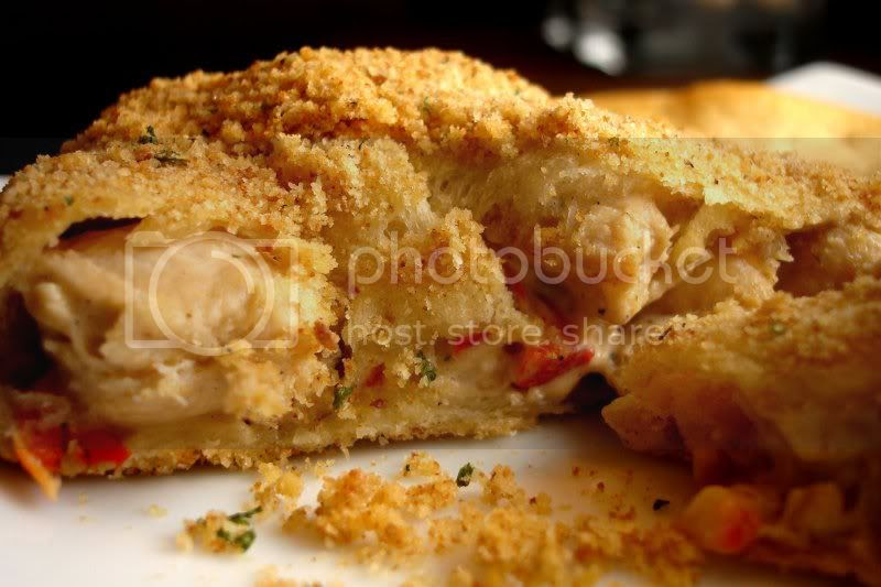 Chicken Pastries with Red Pepper and Cheese