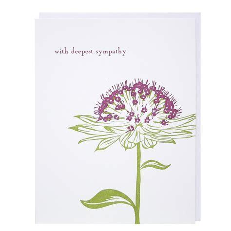 Wild Flower Sympathy Card   Sympathy Cards   Smudge Ink