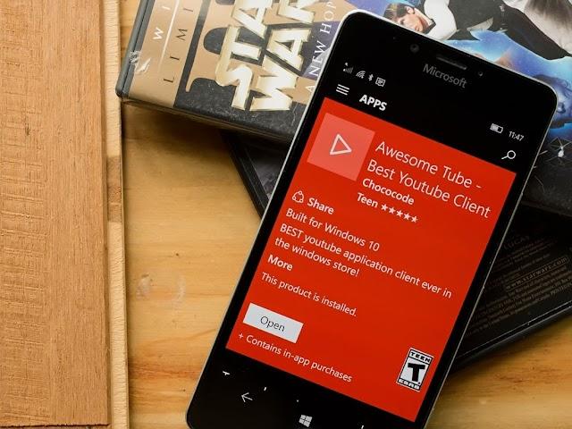 Awesome Tube - O melhor cliente do YouTube para o Windows Phone