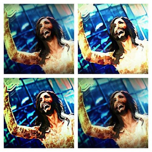'Triunfo en Eurovisión.' Collage de @TrasTando.