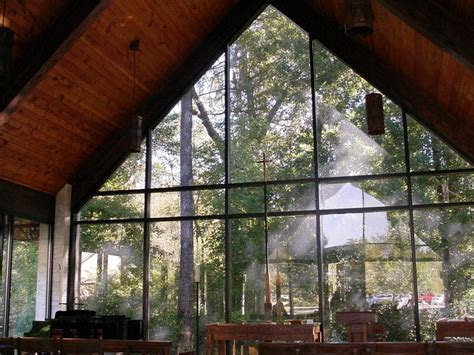 All glass chapel at Trinity UMC in Gainesville, Florida