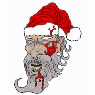 Zombie Christmas Santa Art shirt