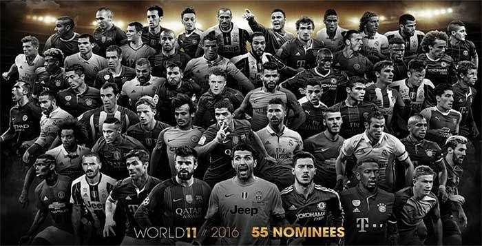 نتيجة بحث الصور عن team of the year fifa 17