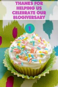 blogiversary cupcake