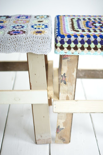 a wood & wool stool couple by wood & wool stool