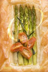 Asparagus and Cherry Tomatoes Tartelette