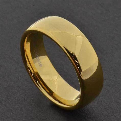 7mm Gold Tungsten Men's Wedding Band Ring sz7 13   eBay