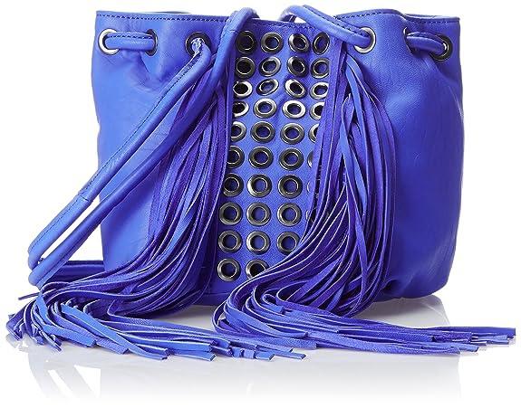 Ash Kimi Drawstring Grommet Bucket Shoulder Bag, Cobalt, One Size