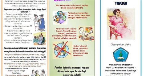 kumpulan materi kebidanan sap  leaflet kehamilan