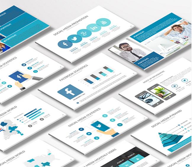 15 Free Social Media Presentation Powerpoint Templates Ginva