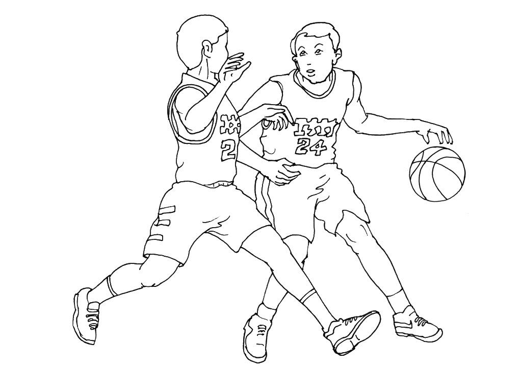 Coloriage  imprimer Sports Basketball numéro