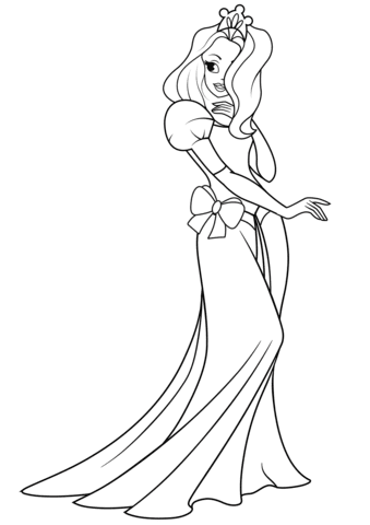 pretty princess coloring page  free printable coloring pages