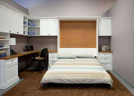 Combination home office - guest room with pull down wall bed ...