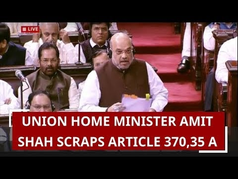 Amit Shah proposes to remove Article 370, 35