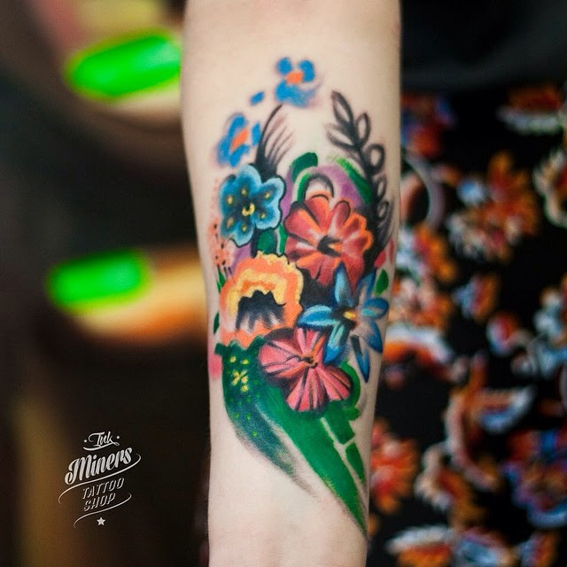Flowers Forearm Tattoo Best Tattoo Ideas Gallery