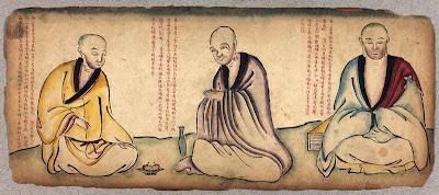 monks in Tibet sketch