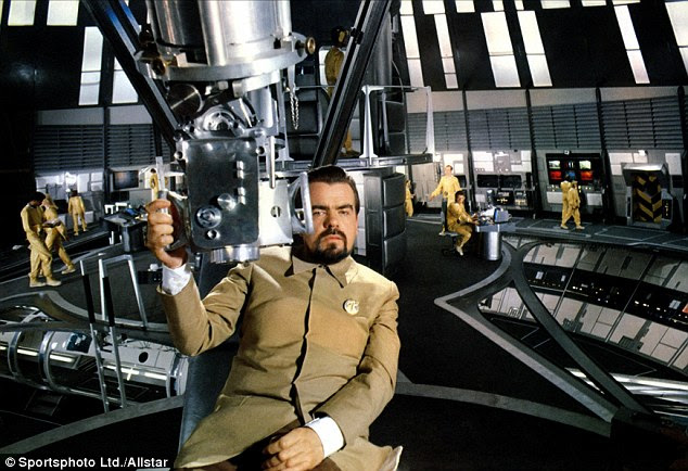 Inspiration? Bond villain Hugo Drax, played by Michael Ironside, in the 1979 film Moonraker