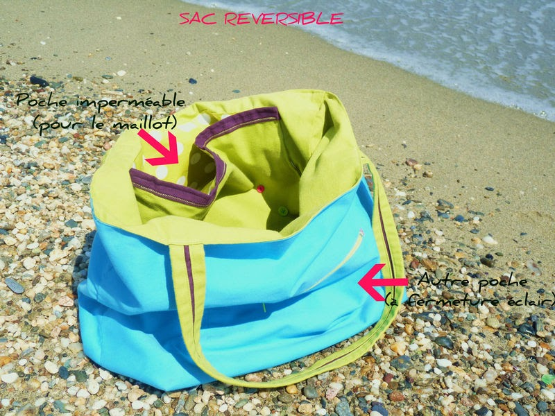 beach bag sac de plage couture. Black Bedroom Furniture Sets. Home Design Ideas