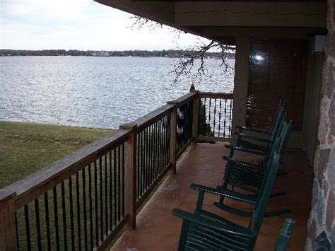 The view from the balcony of Lake Delavan.   Picture of