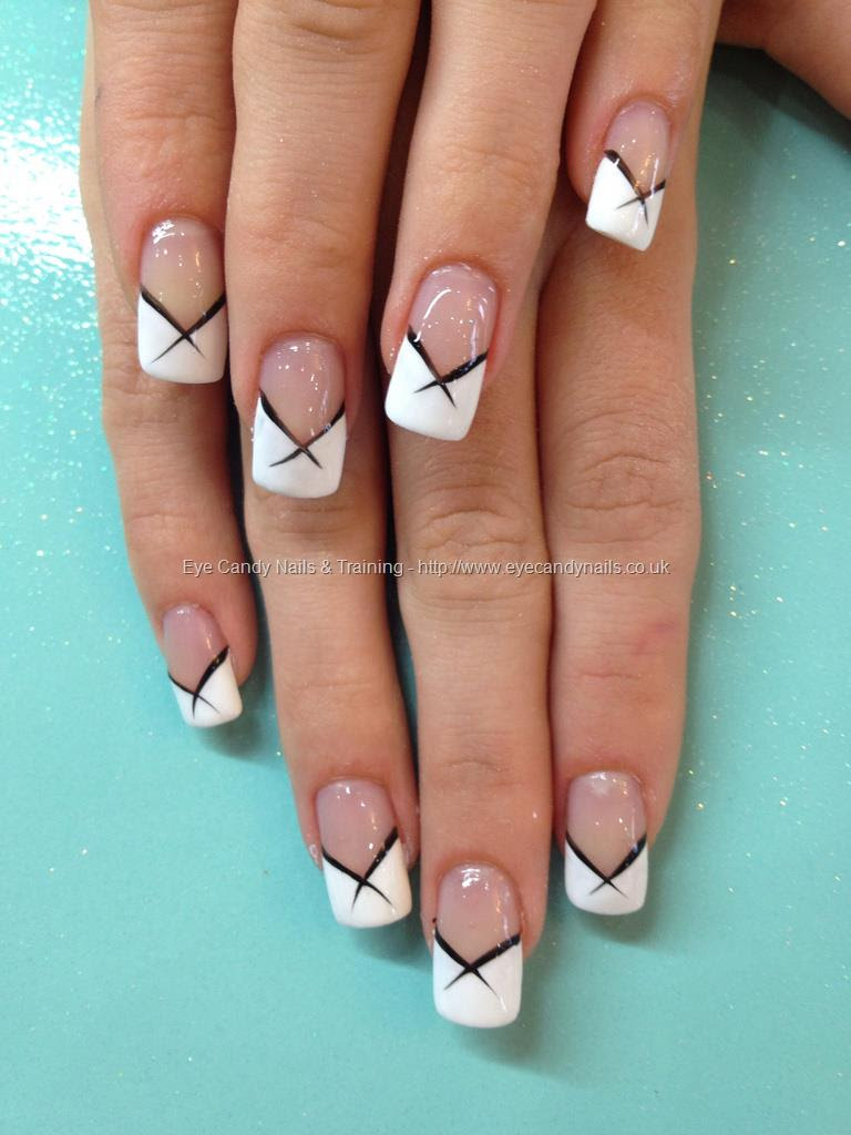 White tip stilettos nails Nail designs. Pinterest - Nail Art Design ...