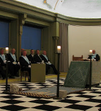 Masonic Lodge Room, Black and White Tiled Floor, Freemasonry, Freemasons, Freemason, Masonic
