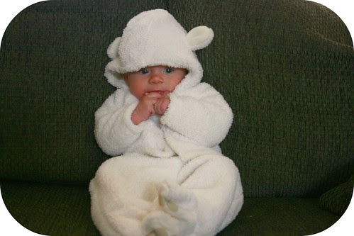 Stephen in the Baby Bear Costume