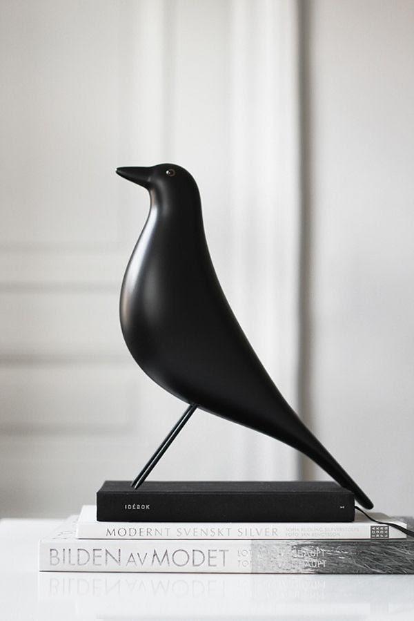 Ptaki w skandynawskich wnętrzach