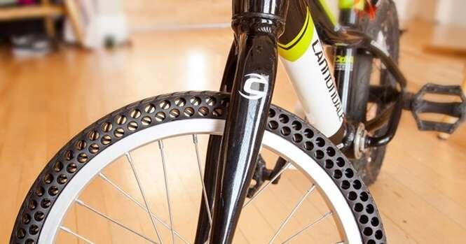 Esse novo tipo de pneu para bicicleta não necessita de câmara de ar