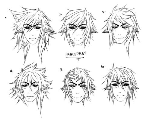 male anime hairstyles drawing  getdrawingscom