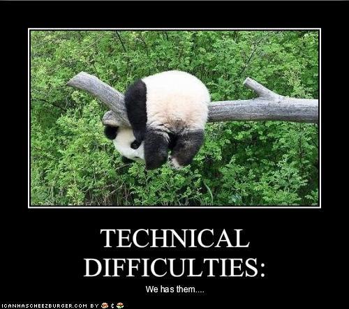 Panda Technical Difficulties