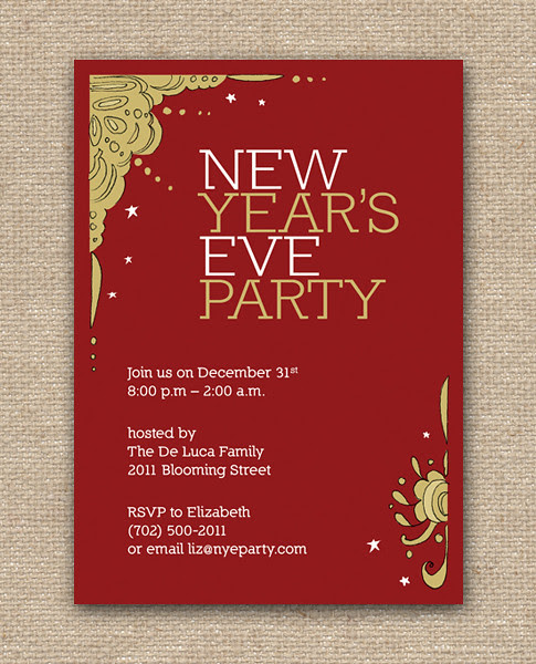 New Year's Eve Party Design Invitation - DIY Printables, holiday, celebration, birthday, party, Hanukkah, Christmas