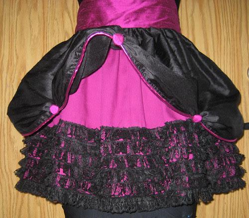 silk apron skirt detail