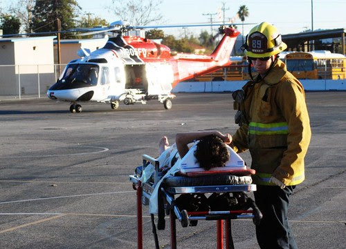 Prepared for Flight by LAFD.