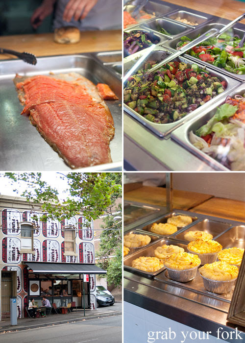 Smoked salmon, salads and fish pie at Fish Place Surry Hills