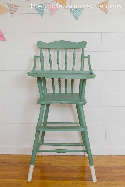 dipped vintage highchair