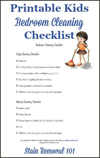 Bedroom Cleaning Checklist: Help Kids Know Expectations ...